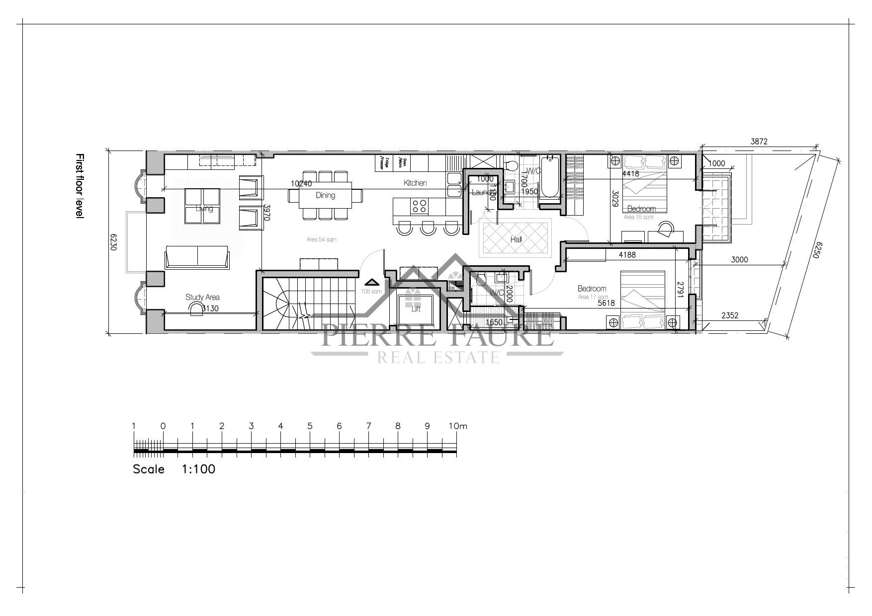 Paola - Residential 2 bedroom apartment Plan-1