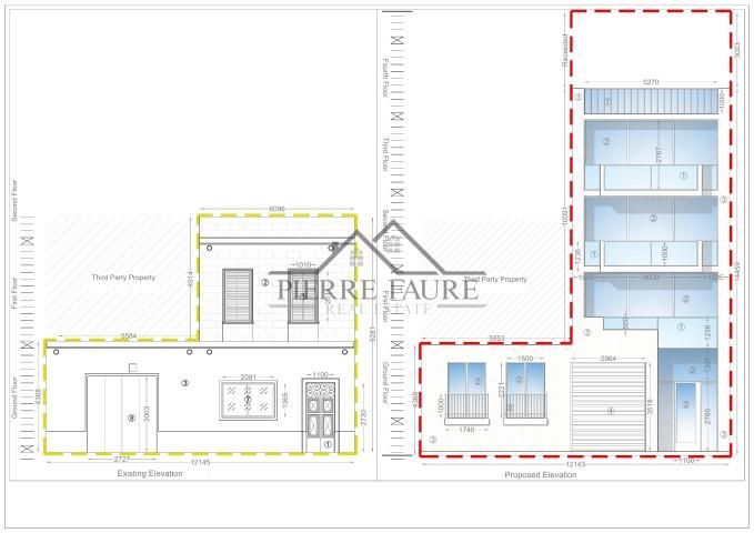 07 Existing & Proposed Elevation at Triq Il-Wied_Hal-Balzan-1 (Small)