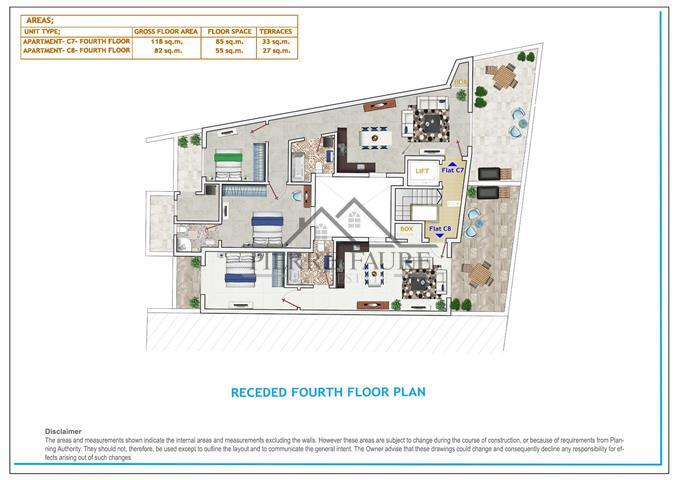 Receded Fourth Floor Plan- F (Small)