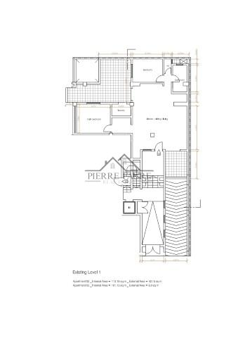 Plan Level 1 - Apt 2 (Small)