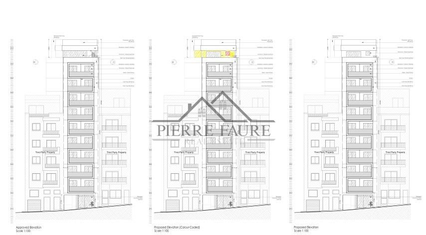 DR_14 Approved and proposed elevation_001 (Small)